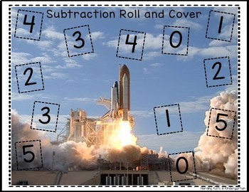 Outer Space Roll & Cover Addition & Subtraction Games!