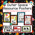 Outer Space Themed Classroom Poster Bundle