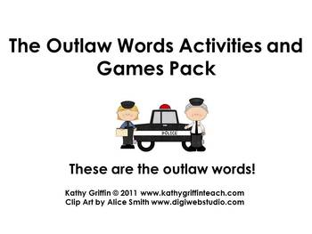 Outlaw Words Activity and Game Pack
