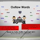 Outlaw Words for the Smart Board, IWB,  or Computer