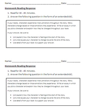 Outline and Written Response to a Listening Passage - ELA