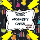 Over 100 science vocabulary flash cards! Word, picture and