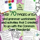 Over 70 pages of grammar & ELA workpages & activities! Ful