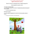 Over, Under, Around and About Apples Preposition Activity