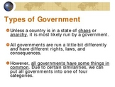 Overview of the Major Forms of Government - Power Point (PPT)