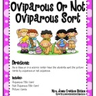 Oviparous or Not Oviparous Science Sort