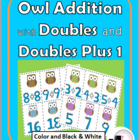 Owl Addition with Doubles Matching Activity (Aligns to Com