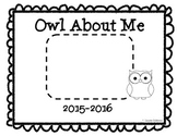 Owl (All) About Me Booklet