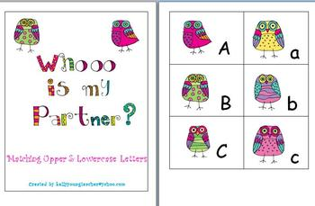 Owl Alphabet Matching Cards