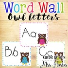 Owl Alphabet for Word Wall