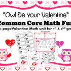 """Owl Be Your Valentine"" Common Core Math Fun"