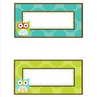 Owl Book Basket Labels Editable Classroom Decor