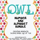 Owl Bundle: Numbers 1-10 & Uppercase Alphabet