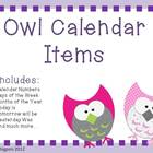 Owl Calendar Items