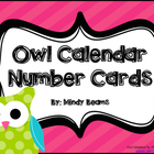 Owl Calendar Number Cards