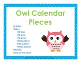 Owl Calendar Pieces- dates, days of the week, months