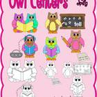 Owl Centers Clipart - Graphics for Commerical Use