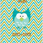 Owl &amp; Chevron Music Educator Binder I