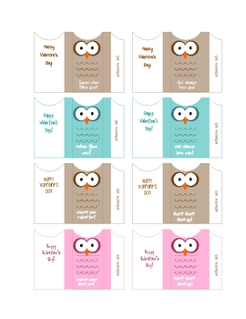 Owl Chocolate Miniatures Wrappers