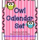 Owl Class Calendar Set
