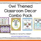 Owl Classroom Decor Combo Pack