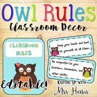 Owl Classroom Rules