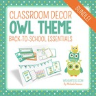 Owl Classroom Theme {Back to School Essentials}