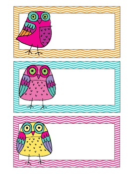 Owl Classroom Theme Items {calendar cards, desk plates, etc..}