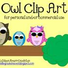 Owl Clip Art (for Personal and Commercial Use)