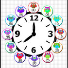 Owl Clock Labels
