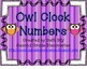 Owl Clock Numbers