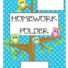Owl Folder Cover Sheets