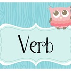 Owl Grammar Wall - Freebie!