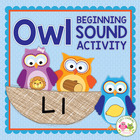 Owl Initial Sound Sort Activity for Preschool and Early Childhood