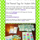 """Owl"" Kinds Of Goodies - Tags for Student Gifts"