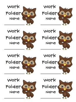 Owl Labels freebie
