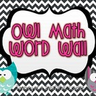 Owl Math Word Wall
