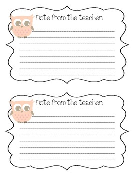 Owl Note Cards - Freebie!
