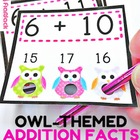 Owl Poke Addition Facts 1-12