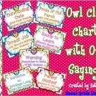 Owl Sayings Clip Chart