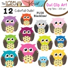 Owl Set: Clip Art Graphics for Teachers