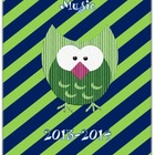 Owl & Stripes Music Educator Binder II