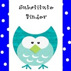 Owl Substitute Teacher Binder