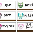 Owl Supply Labels
