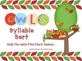 Owl Syllables Sort ~ Science and Sight Words