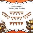 Owl Thanksgiving Bunting