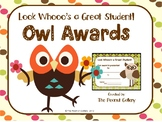 "Owl Theme Awards: ""Look Whooo's a Great Student!"""