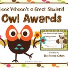 Owl Theme Awards: &quot;Look Whooo&#039;s a Great Student!&quot;
