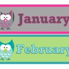 Owl Theme Calendar Set