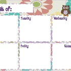 Owl Theme Daily/Weekly Planning Pages